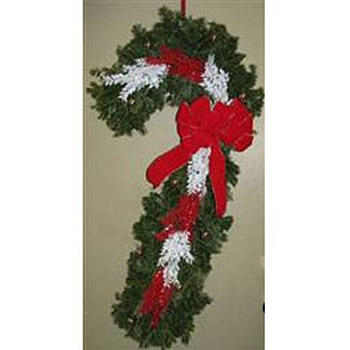 DECORATED BALSAM CANDY CANE
